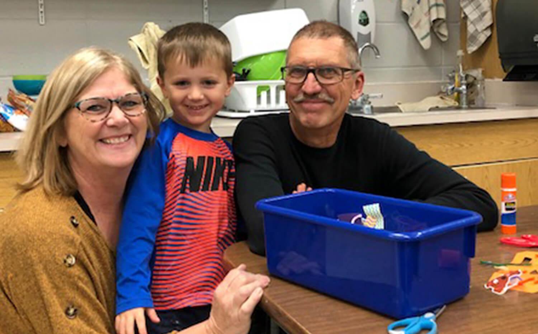 Family involved in Minnewaska Early Childhood Family Education program
